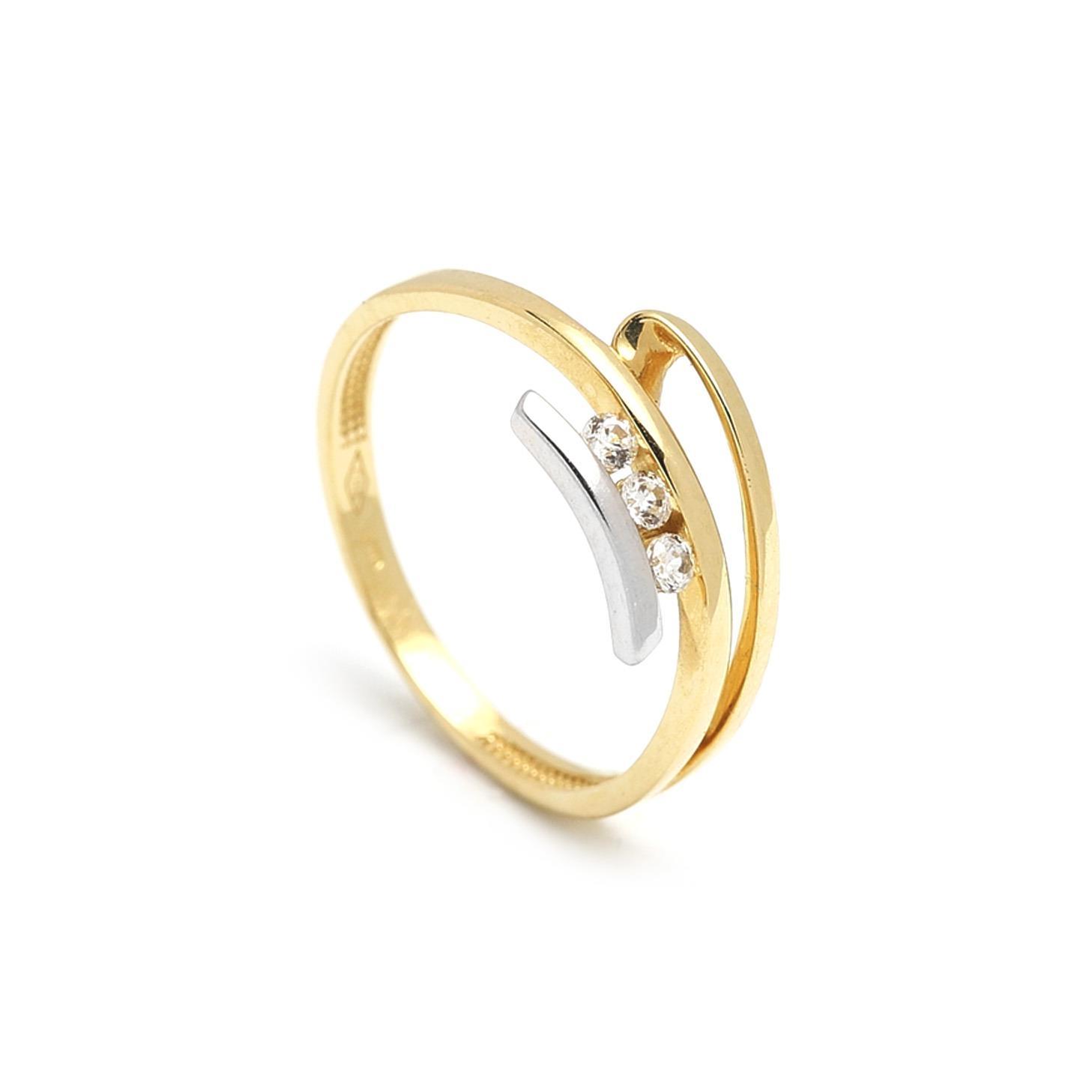 Zlatý dámsky prsteň FIORALBA 1PK00048