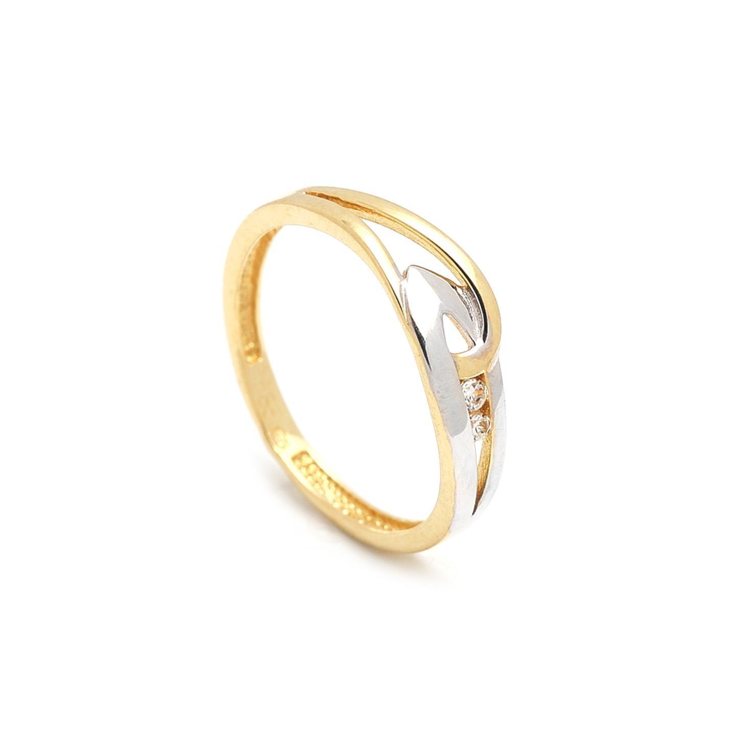 Zlatý dámsky prsteň FIORE 1PZ00049