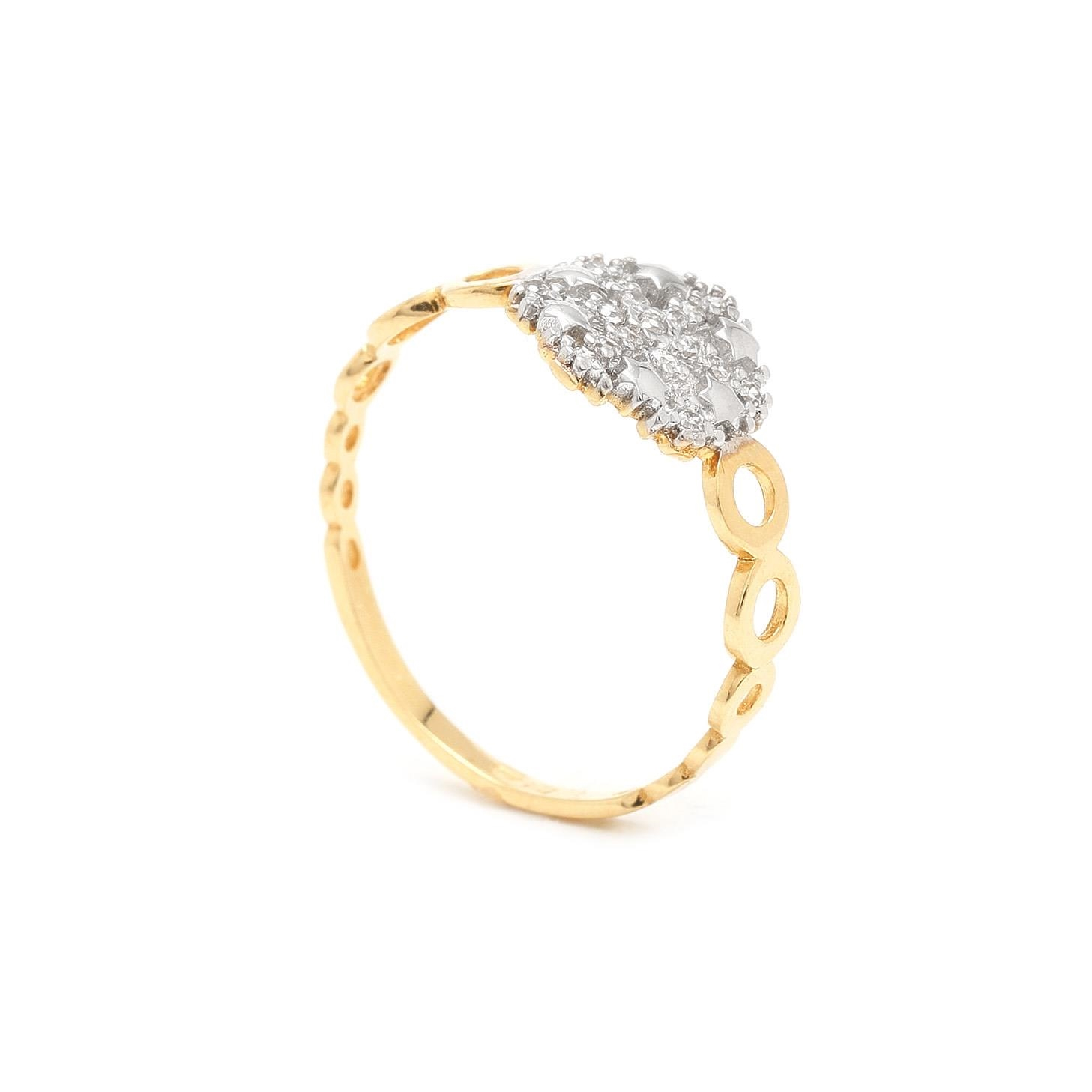 Zlatý dámsky prsteň FLOCKE 7PZ00317