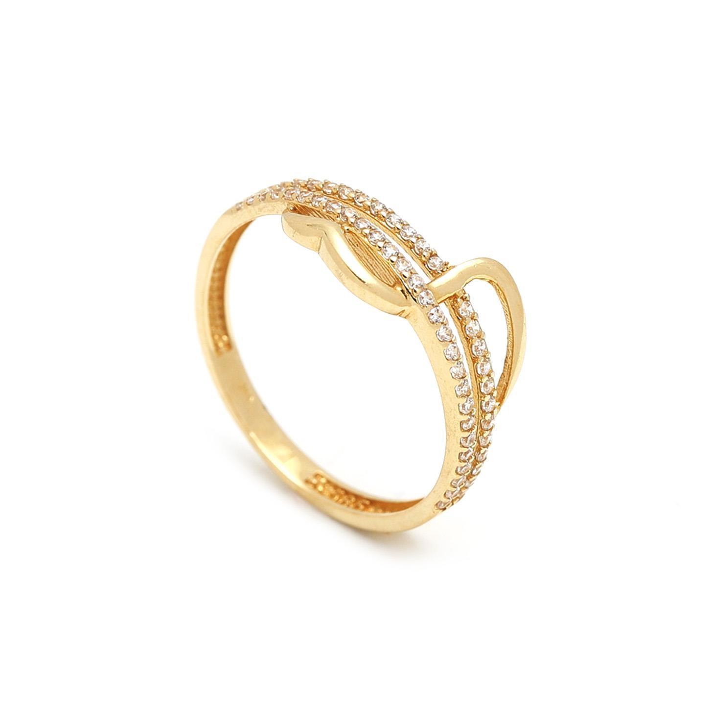 Zlatý dámsky prsteň FRANCESCA 1PZ00056