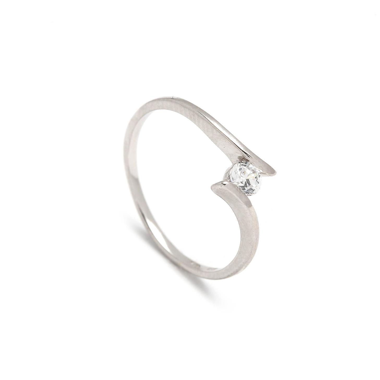Zlatý dámsky prsteň GIOFFREDA white 1PB00074
