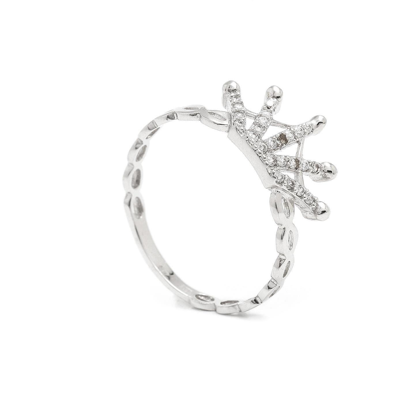 Zlatý dámsky prsteň IMPERIAL white 7PB00306