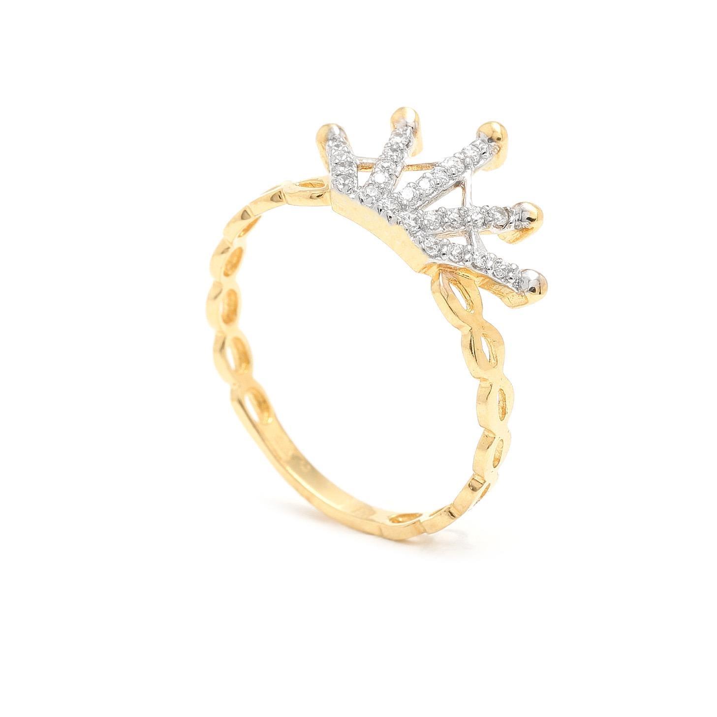 Zlatý dámsky prsteň IMPERIAL 7PZ00305