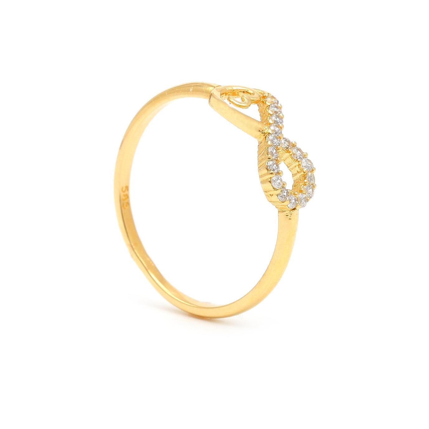 Zlatý dámsky prsteň INFINITY 1PZ00397