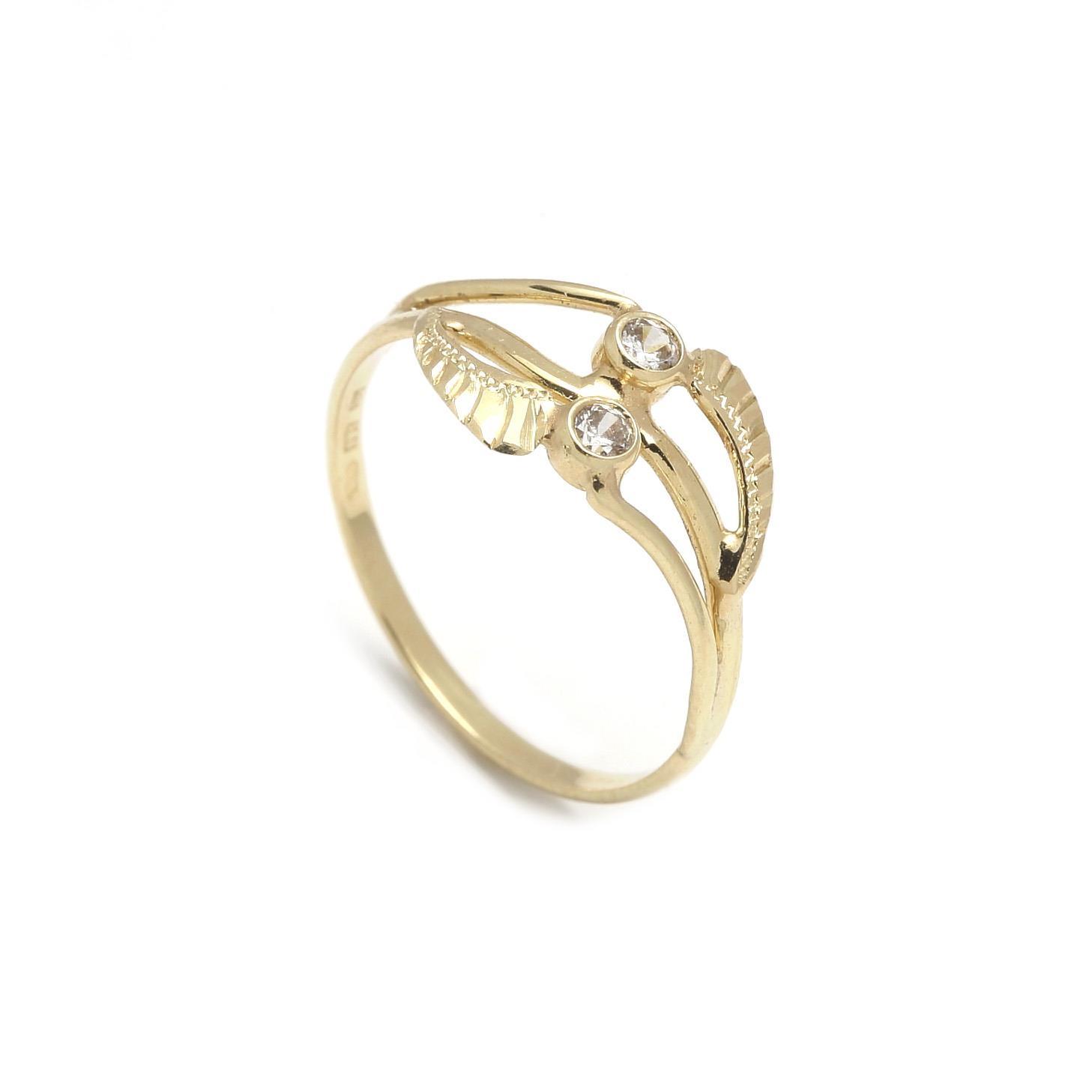 Zlatý dámsky prsteň MAGNOLIA 2PZ00121