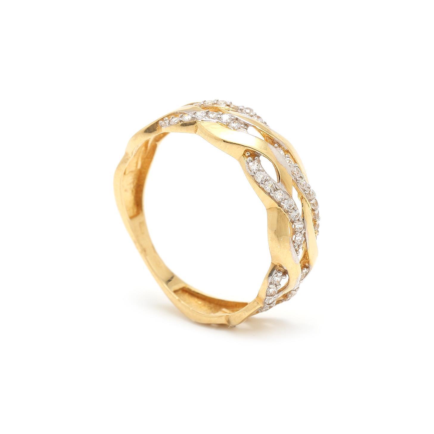 Zlatý dámsky prsteň MERYEM 7PZ00318