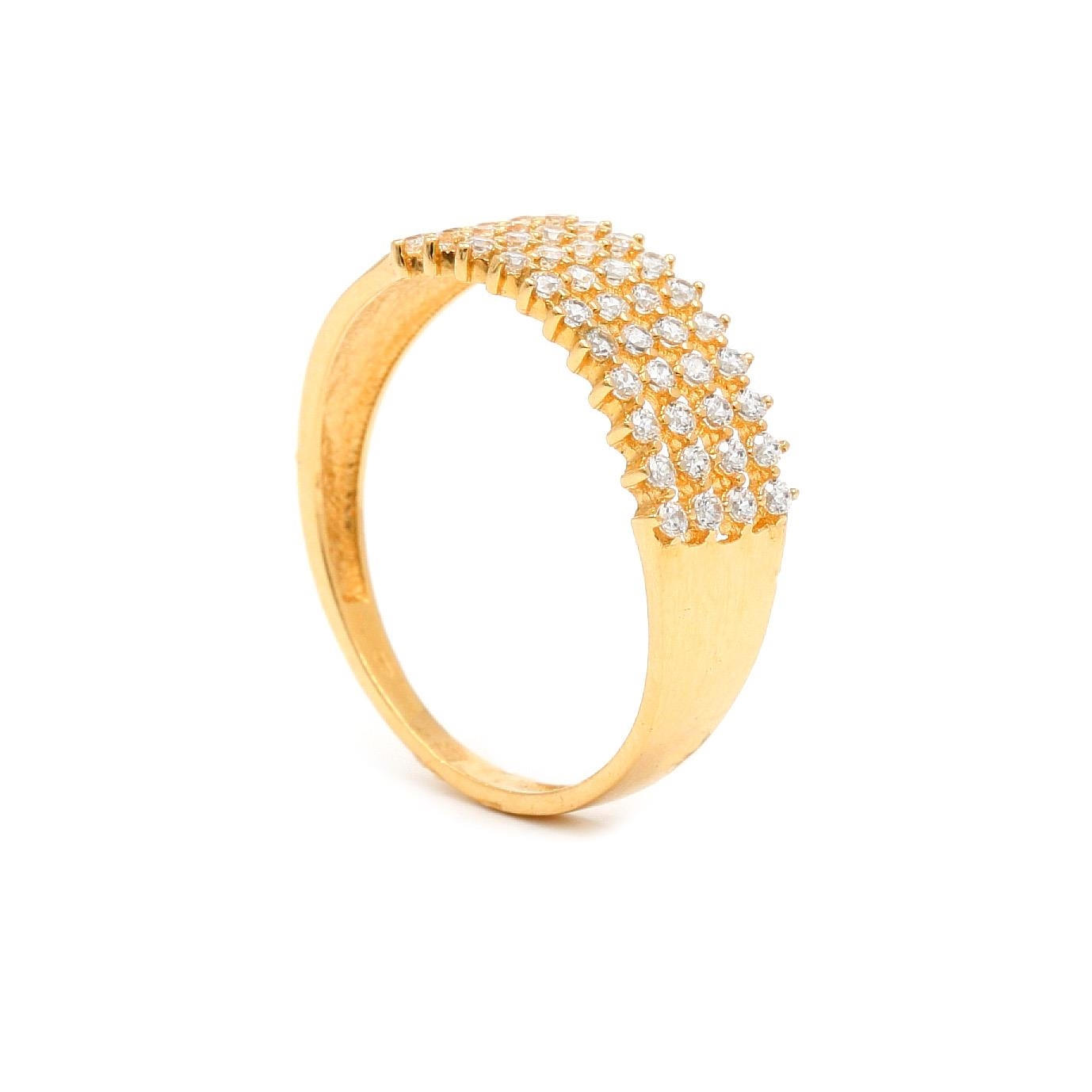 Zlatý dámsky prsteň MIRARI 7PZ00359