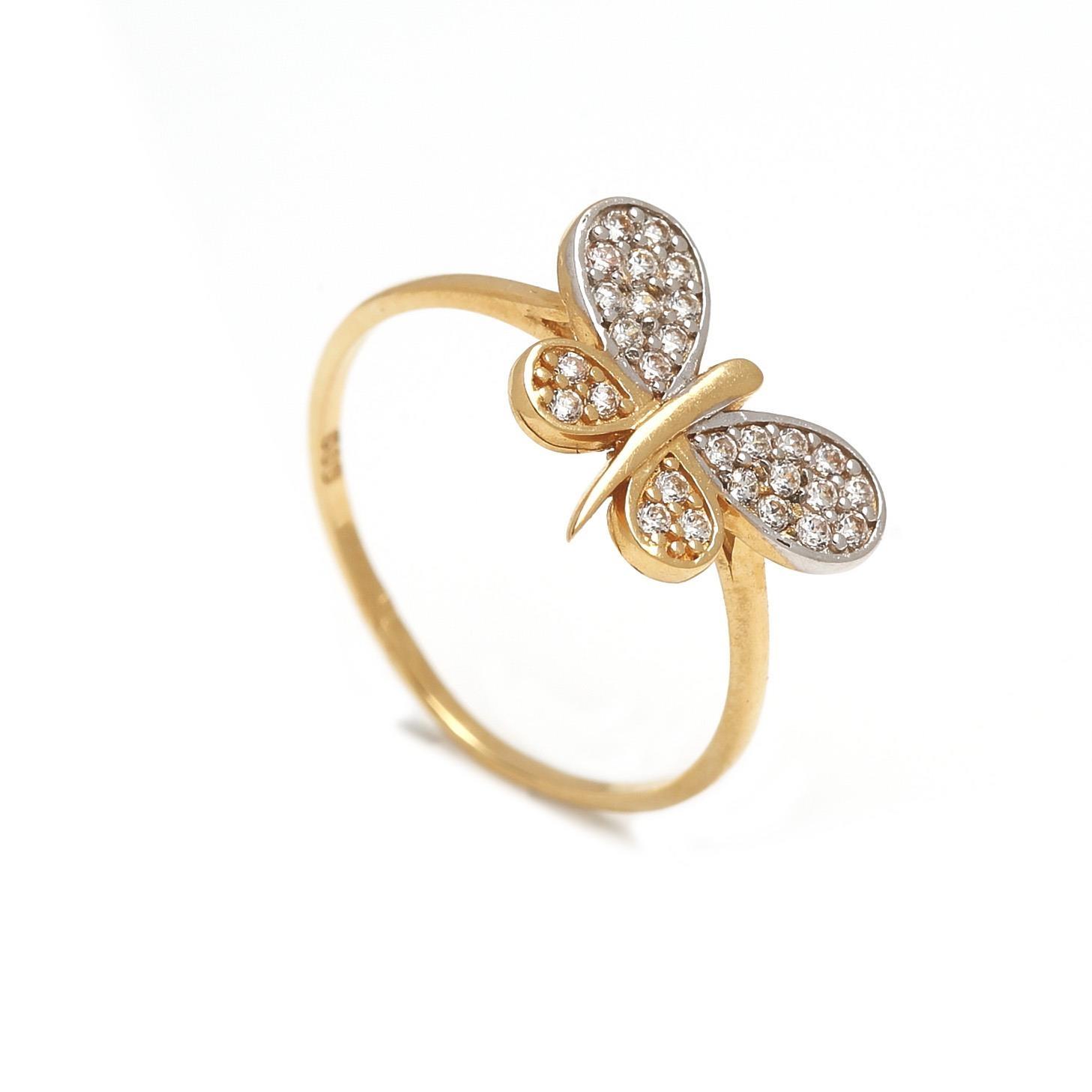 Zlatý dámsky prsteň MOTÝĽ 1PZ00018
