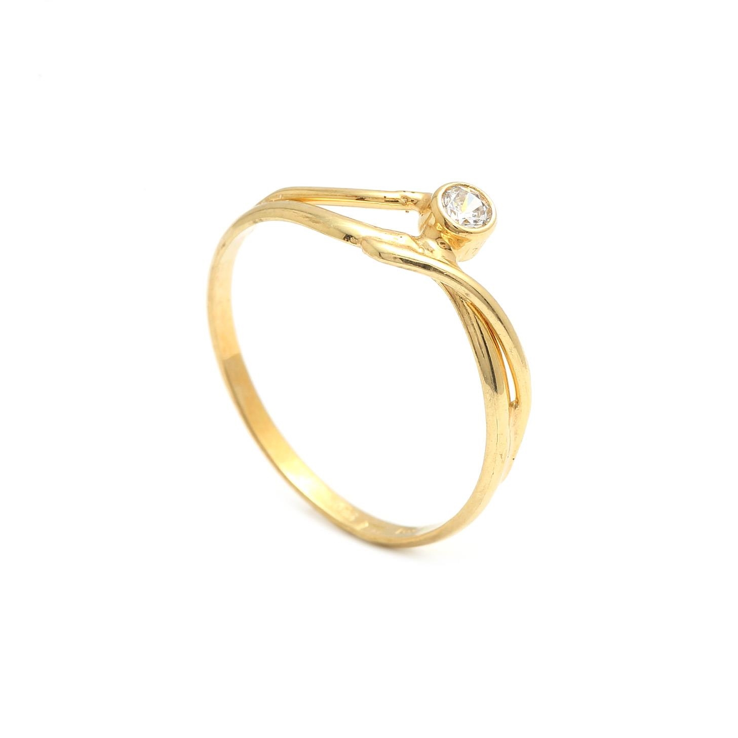 Zlatý dámsky prsteň ORABELLA 2PZ00128