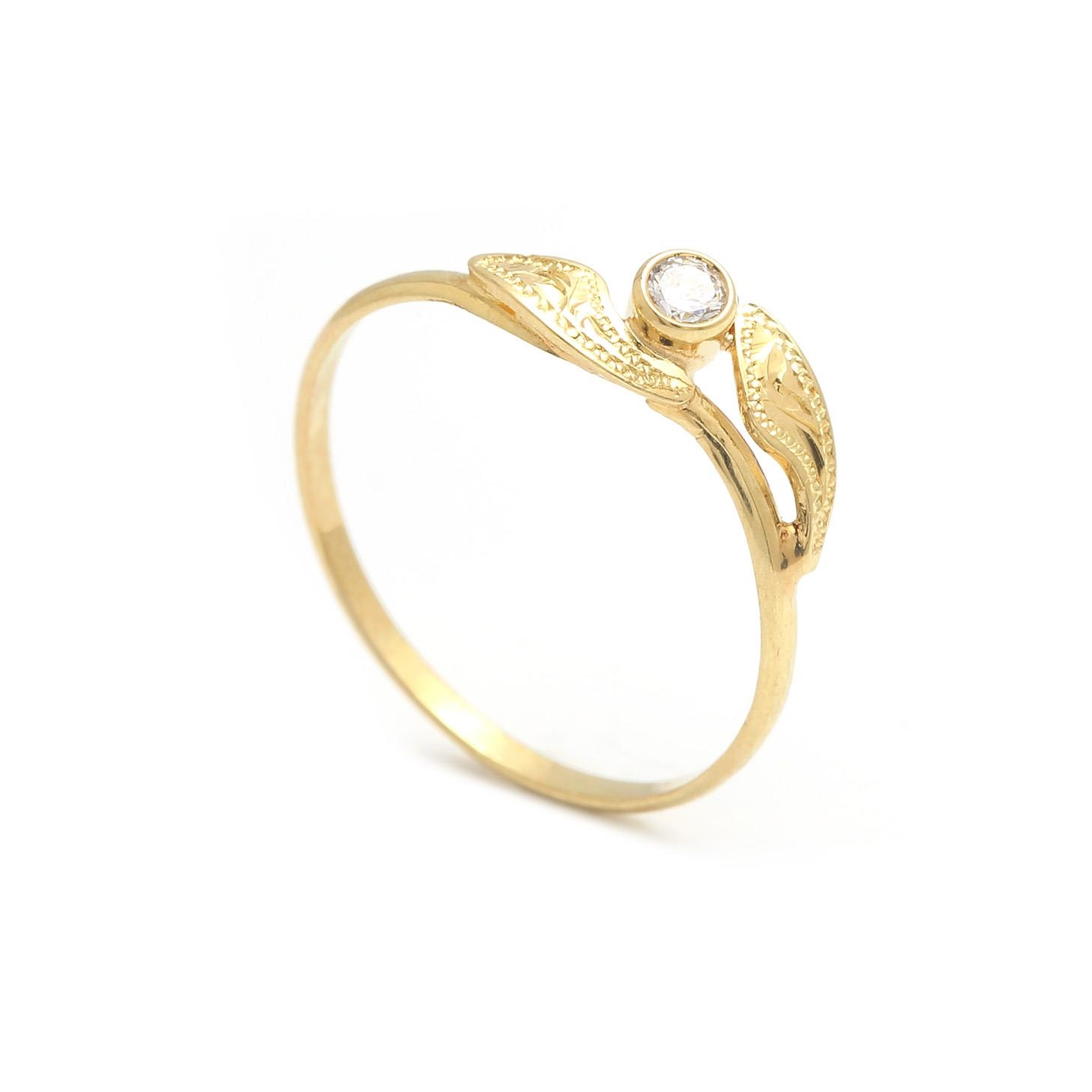 Zlatý dámsky prsteň ORLANDA 2PZ00129
