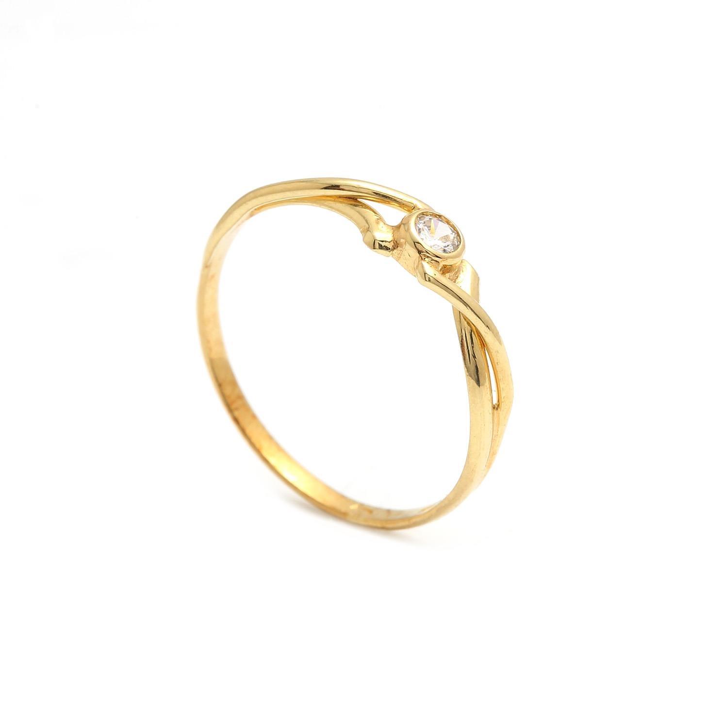 Zlatý dámsky prsteň PANSY 2PZ00124