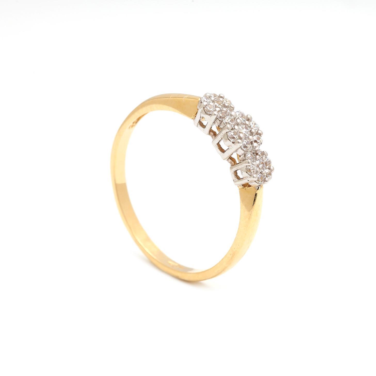 Zlatý dámsky prsteň RACHELLE 3PK00144
