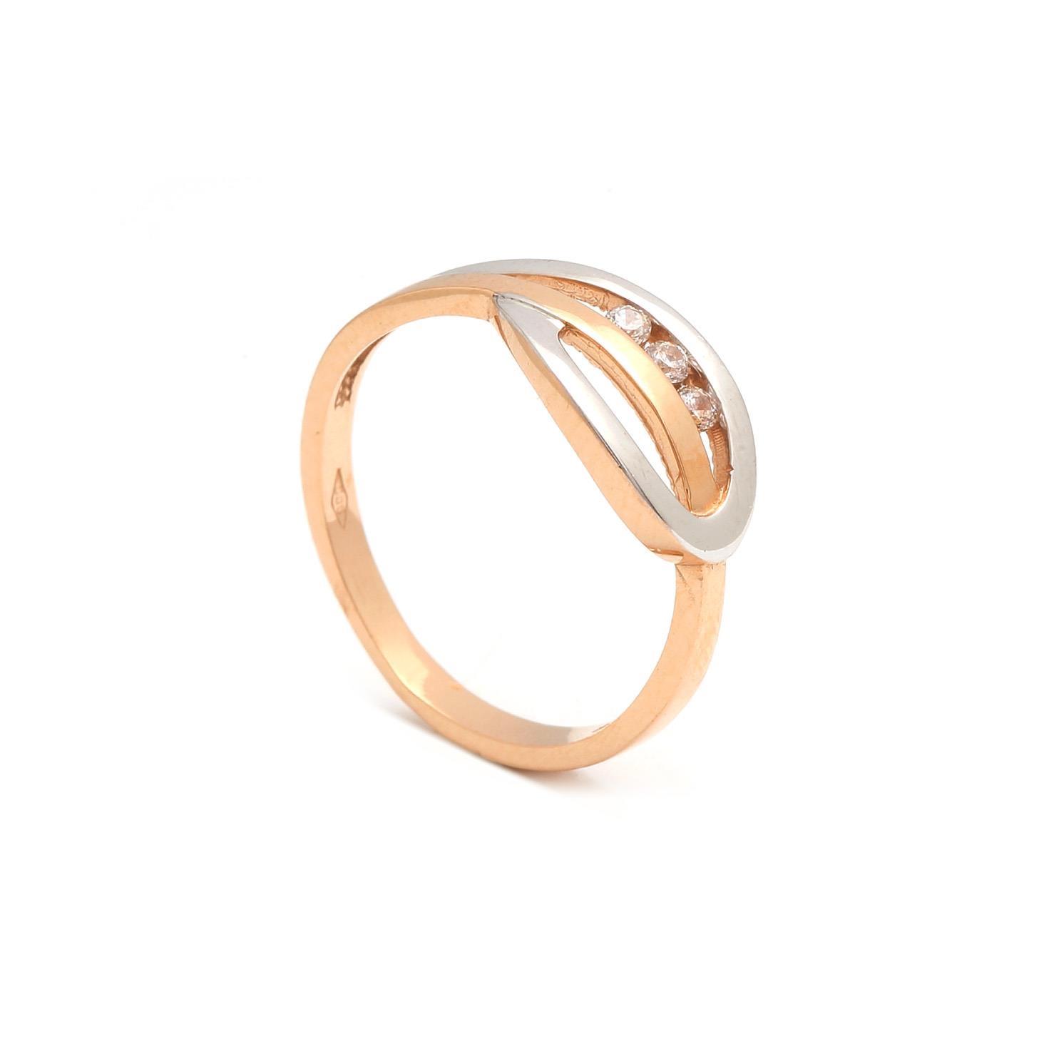 Zlatý dámsky prsteň ROBERTA 3PK00150