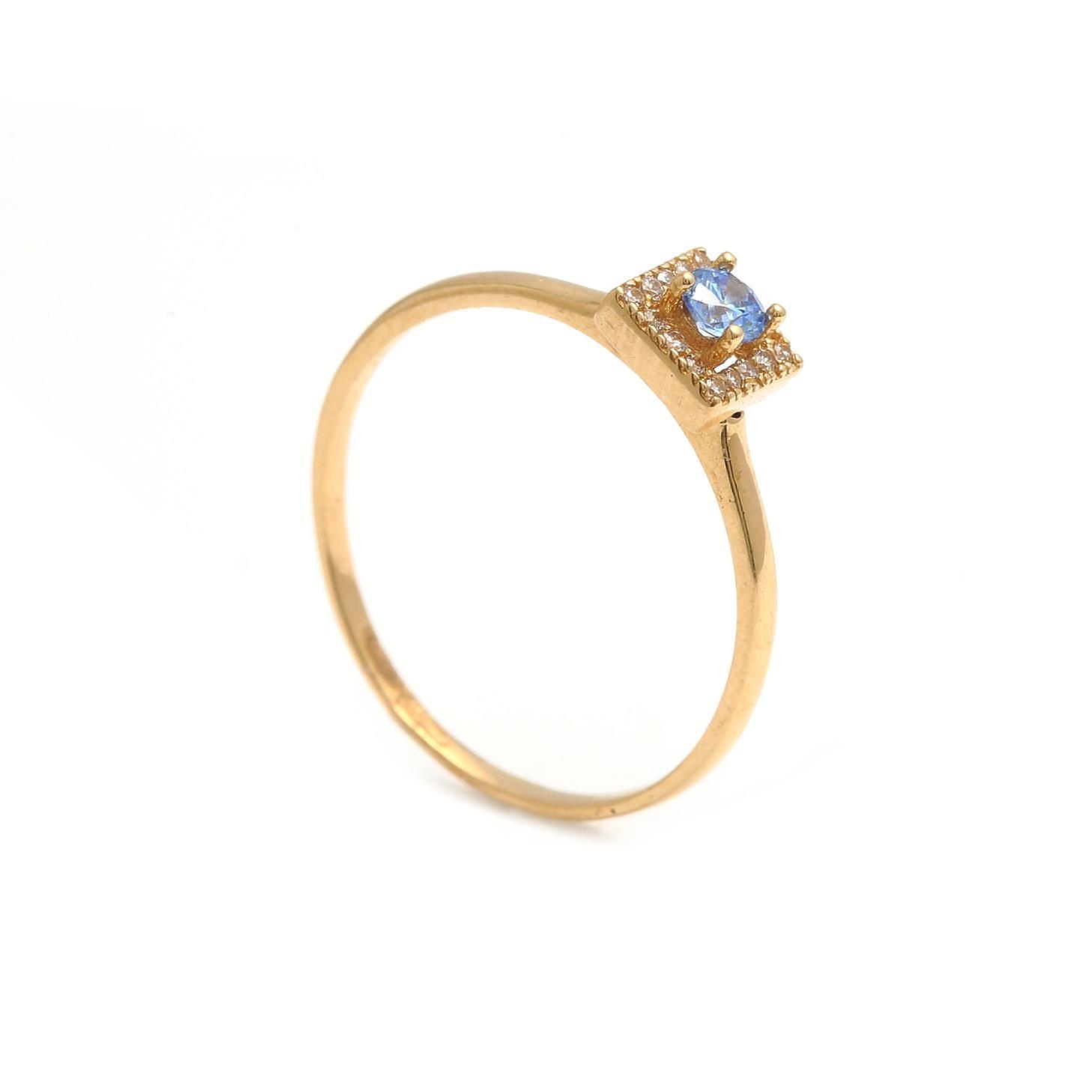 Zlatý dámsky prsteň SAMANTA blue 1PZ00156