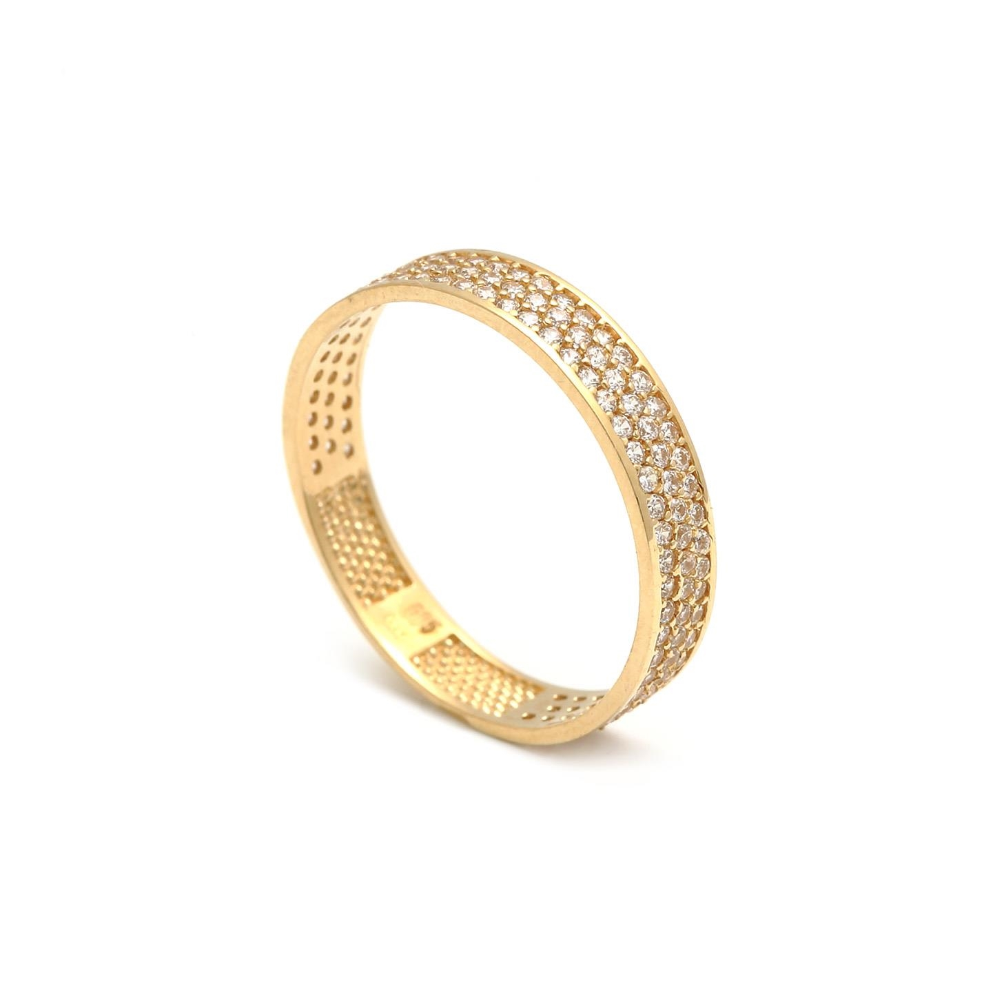 Zlatý dámsky prsteň SEBASTIANA 1PZ00164