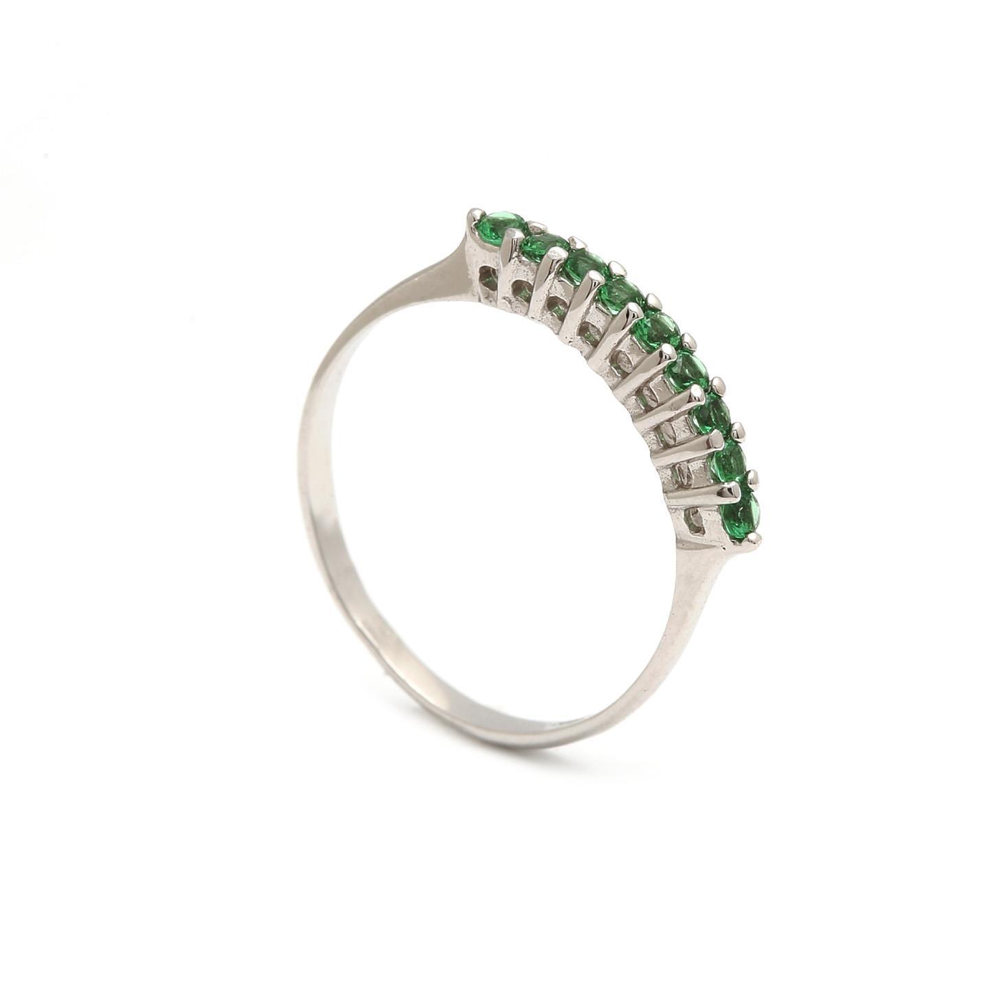 Zlatý dámsky prsteň SELVAGGIA green 1PB00165