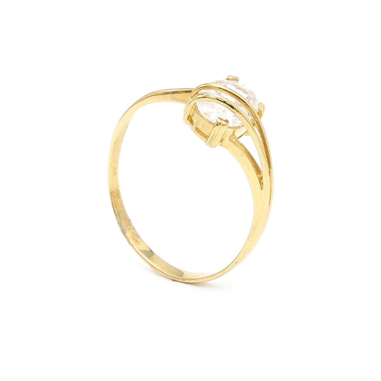 Zlatý dámsky prsteň STELA 6PZ00297