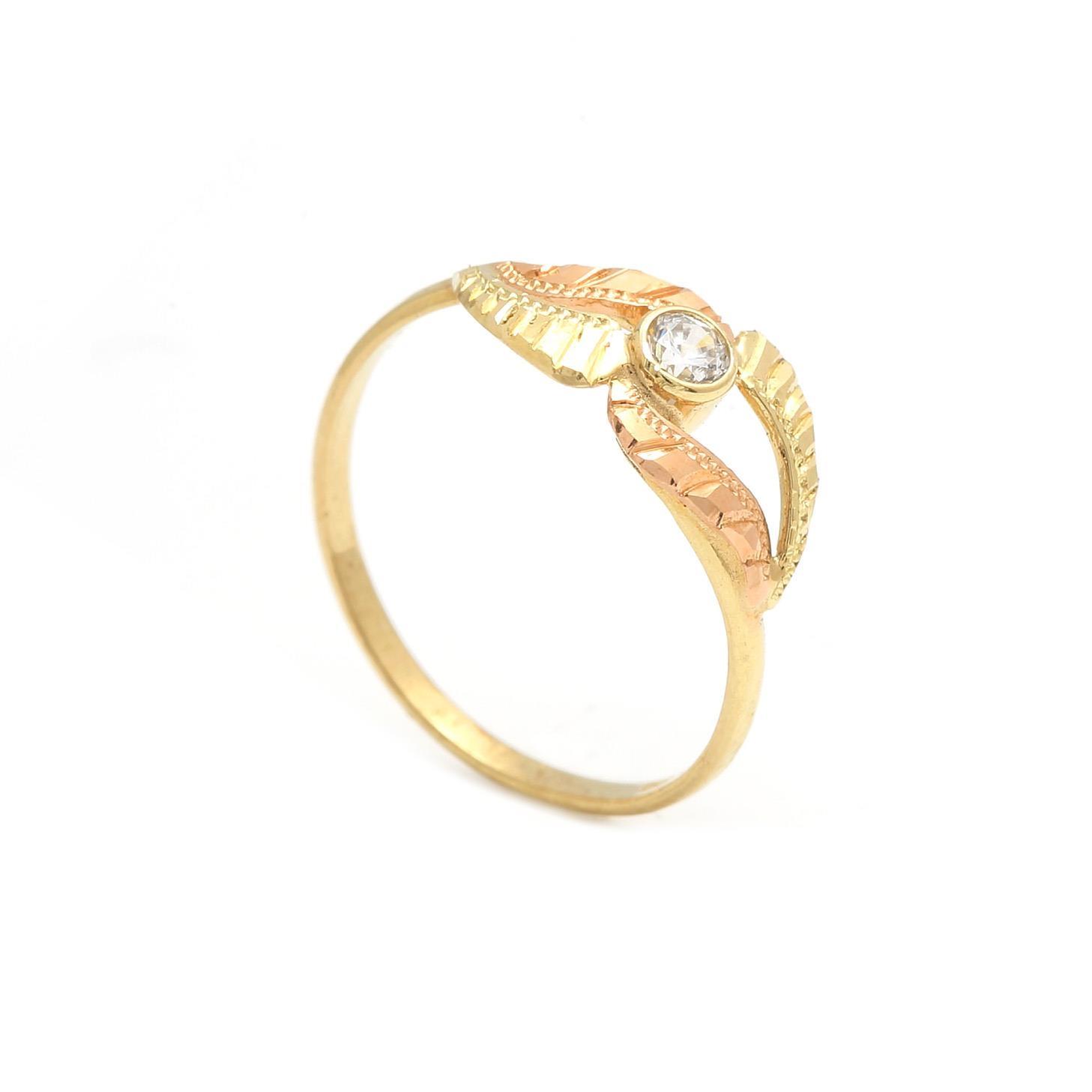 Zlatý dámsky prsteň TUBEROSE 2PK00126