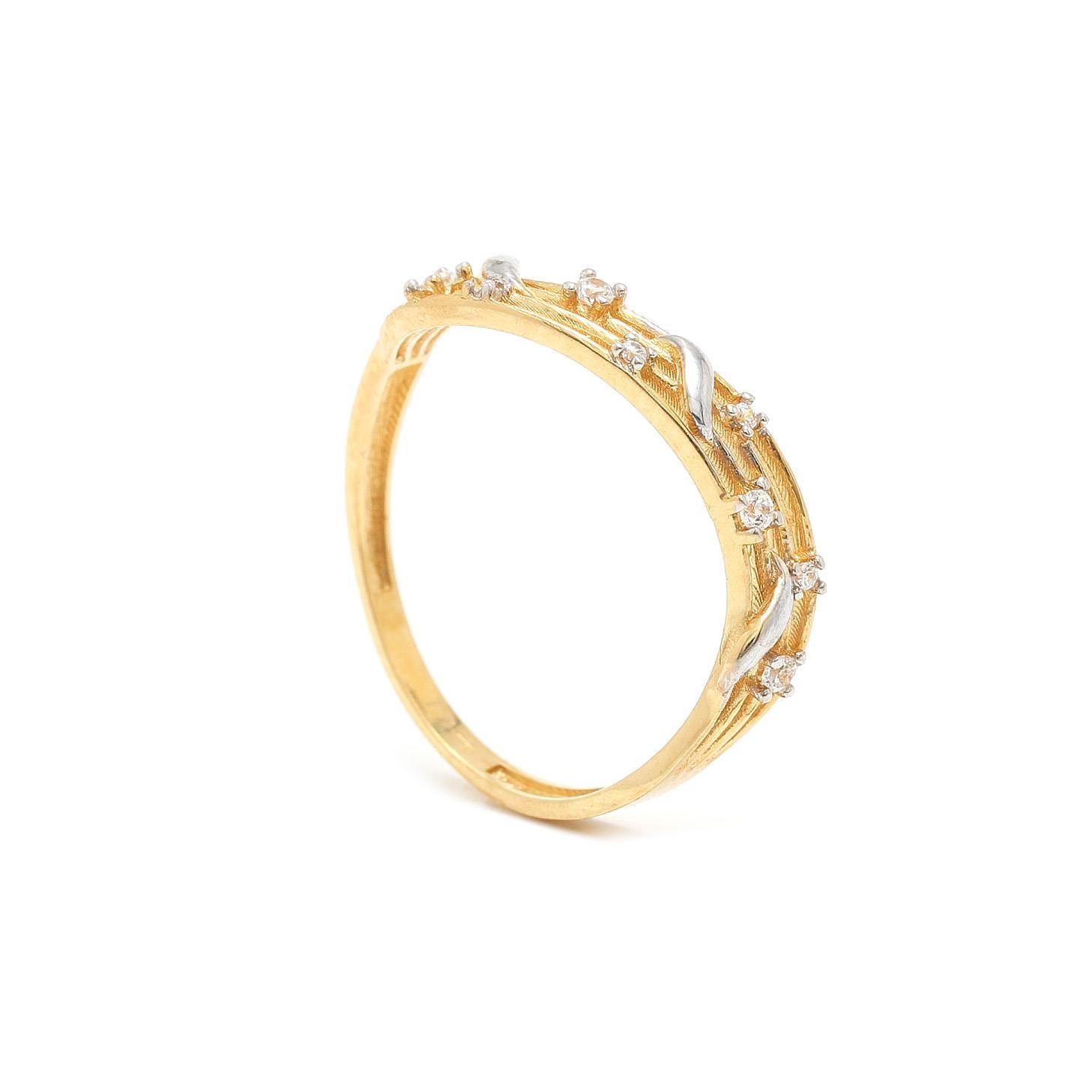 Zlatý dámsky prsteň TULAY 7PZ00320