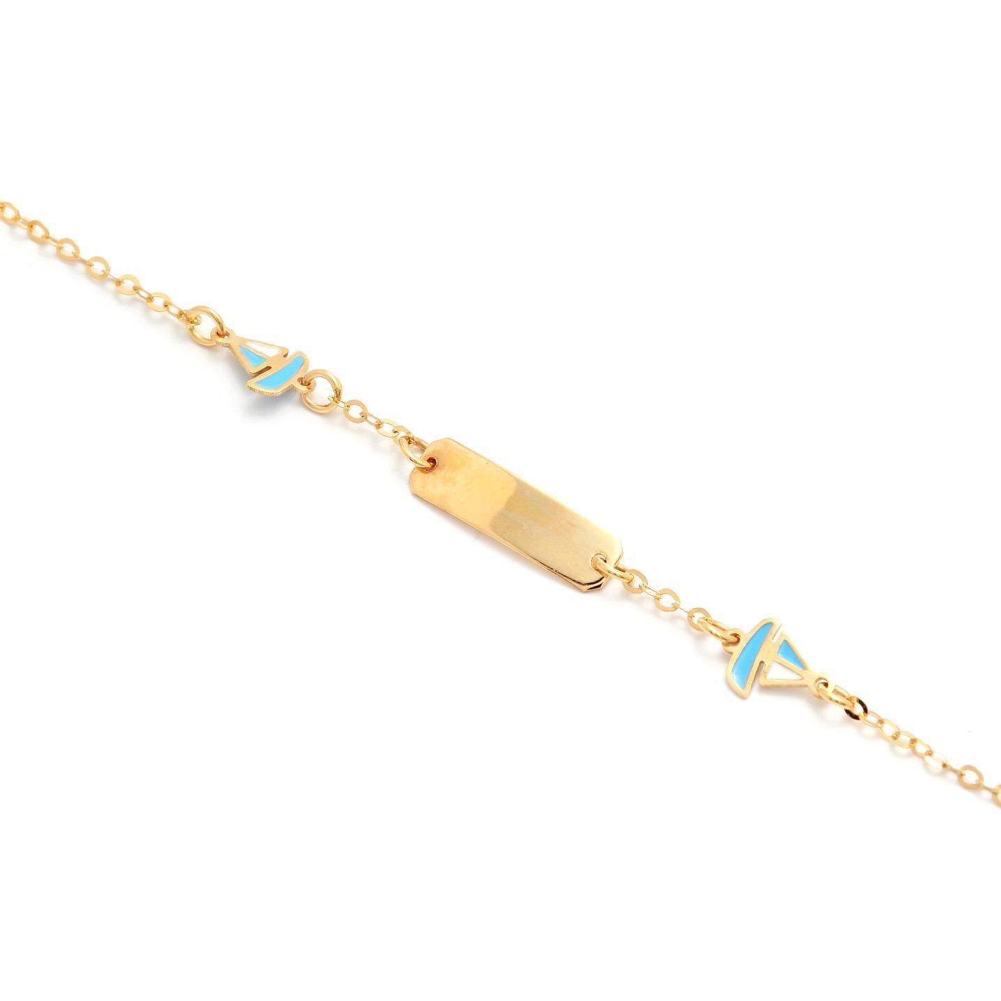 Zlatý detský náramok s lodičkami 5MZ00040