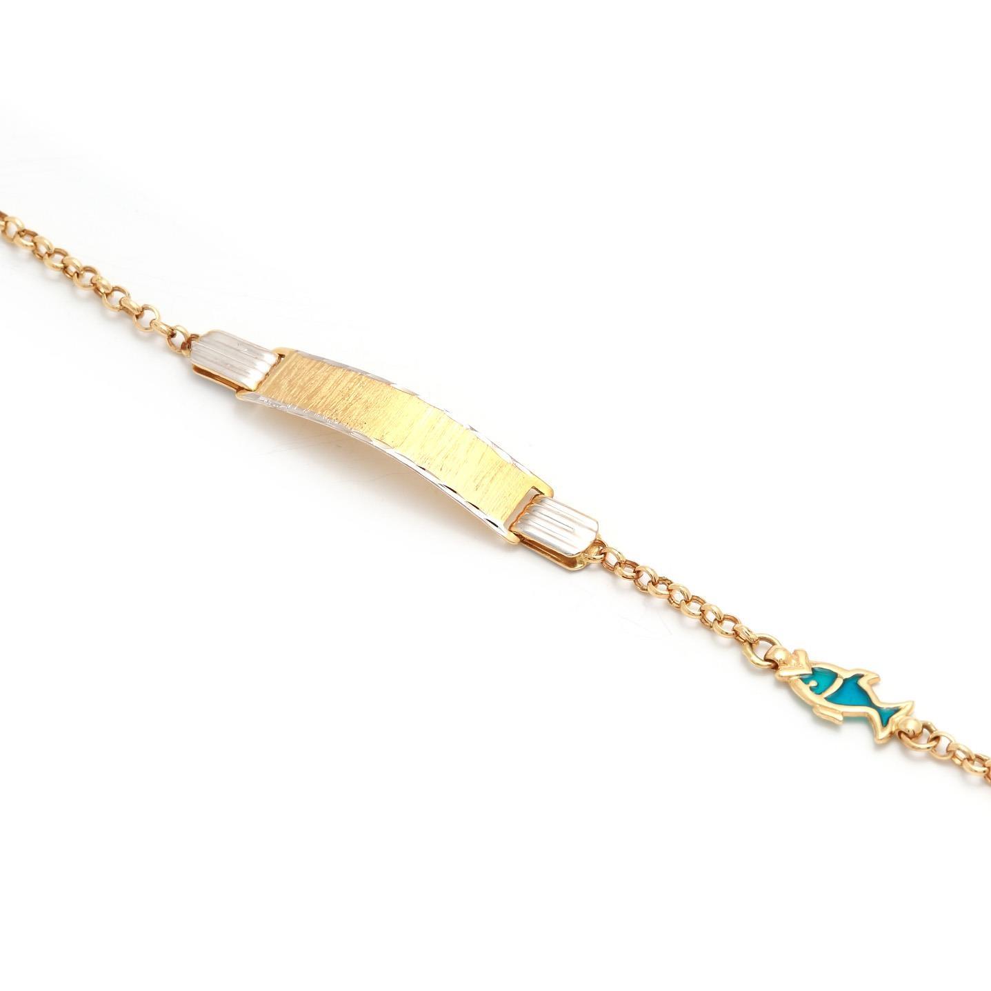 Zlatý detský náramok s rybičkou 5MZ00046