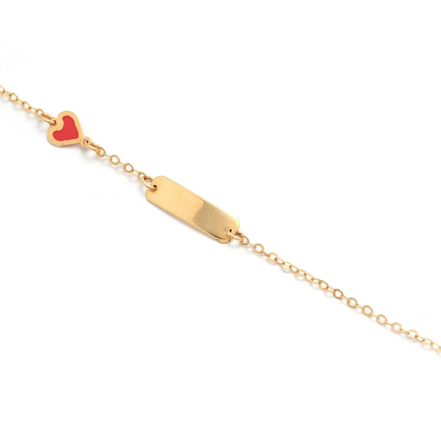 Zlatý detský náramok so srdiečkom 5MZ00037