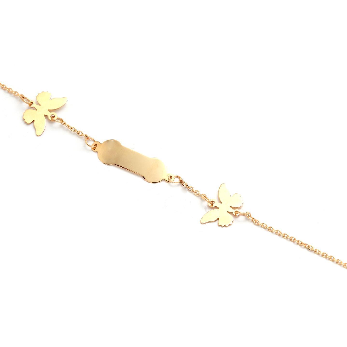 Zlatý dievčenský náramok s holubicami 5MZ00061