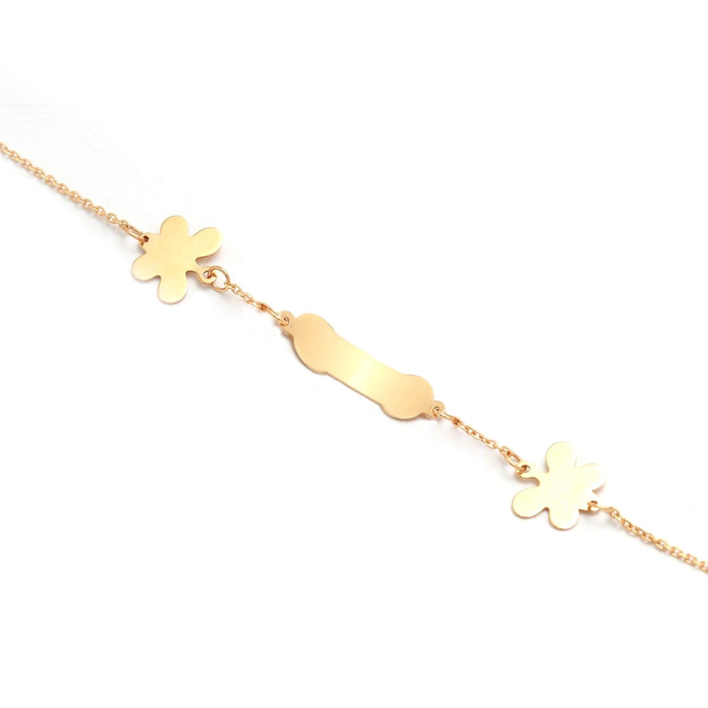 Zlatý dievčenský náramok s motýlikmi 5MZ00060