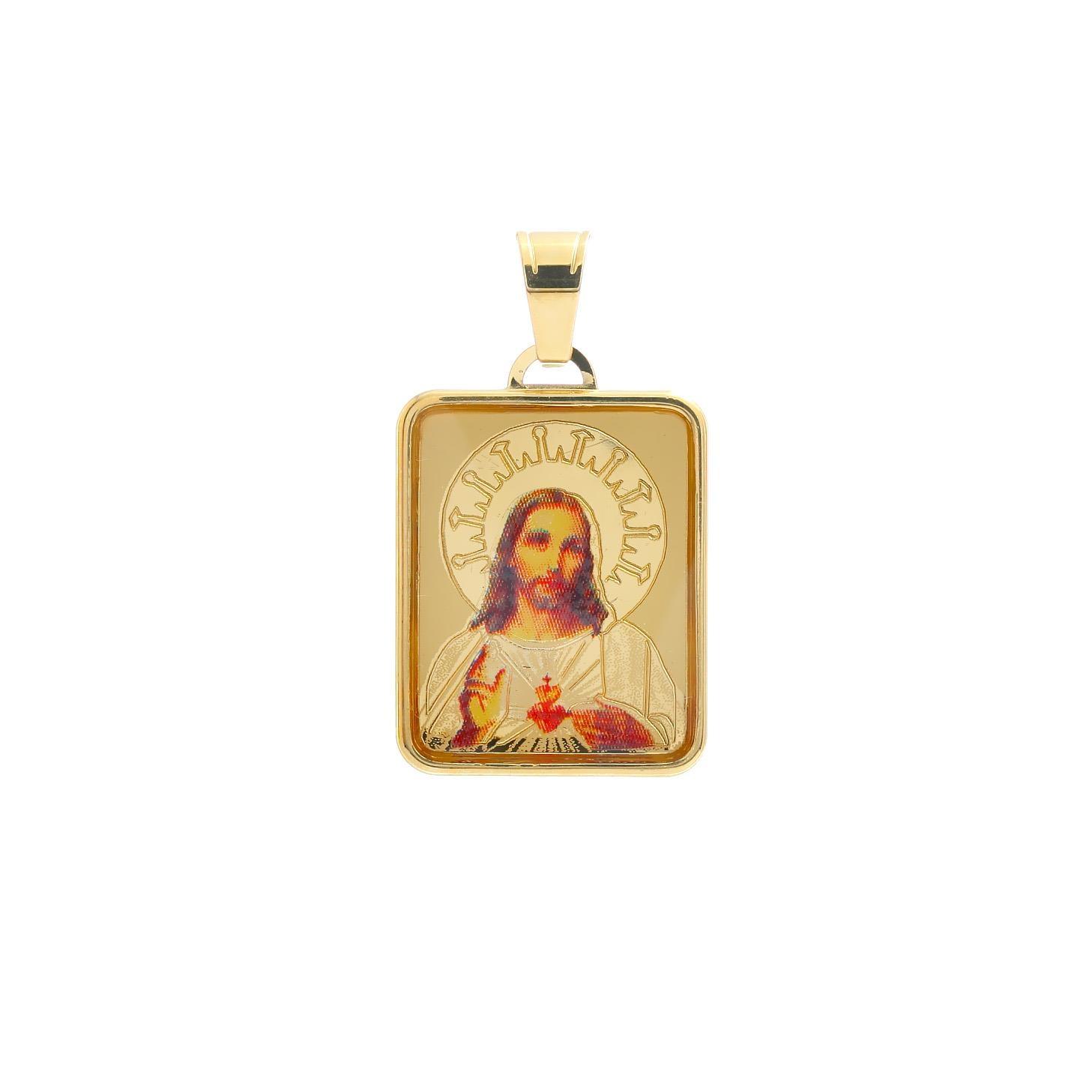 Zlatý medailón Ježišovo Božské Srdce 10VS00456