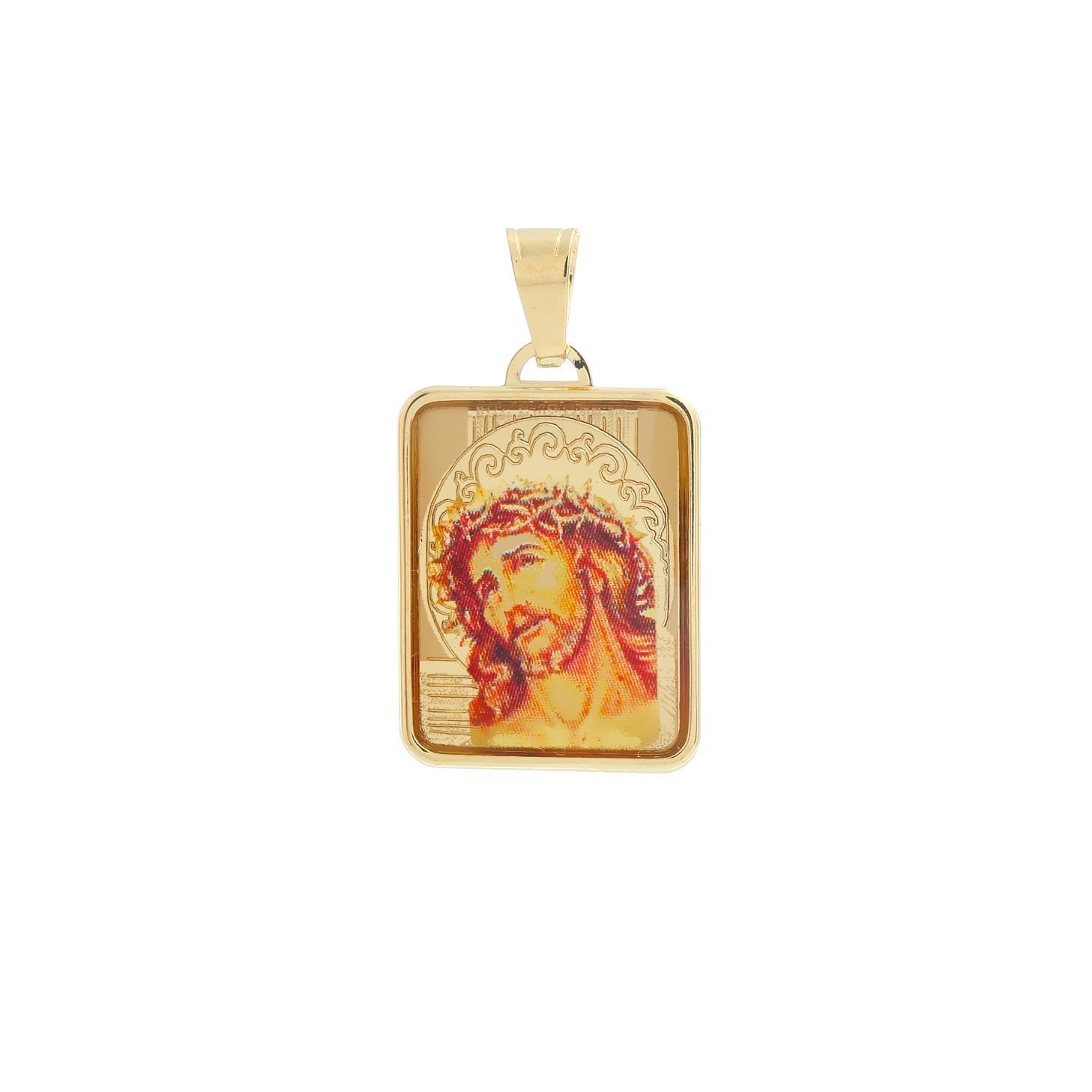Zlatý medailón Ukrižovanie Krista 10VS00455