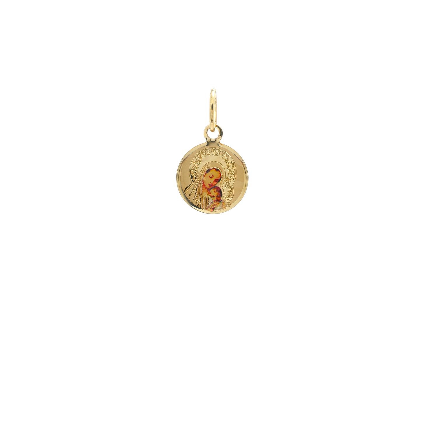 Zlatý medailónik Panny Márie s dieťatkom 10VS00472