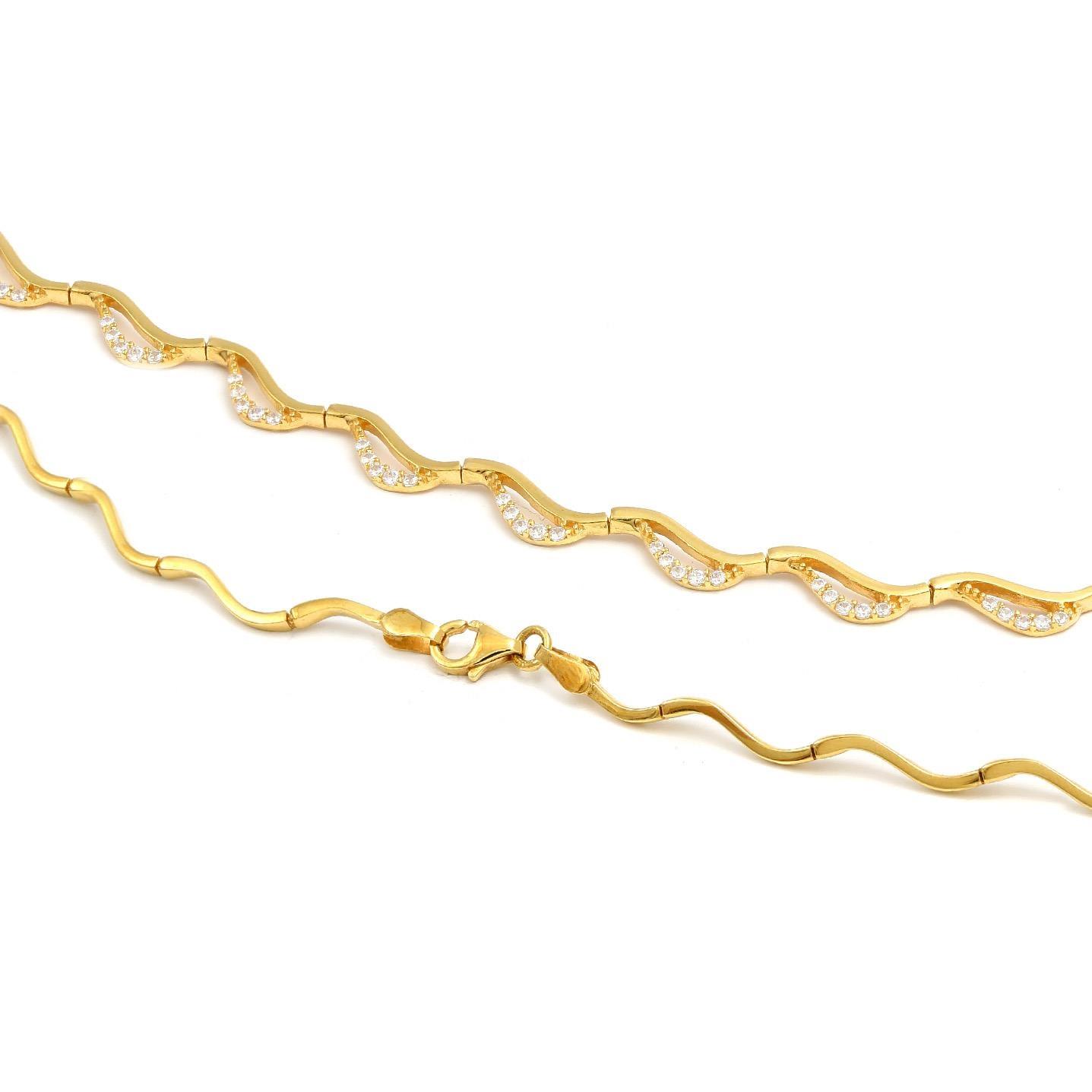 Zlatý náhrdelník BRIGITA  6RZ00077
