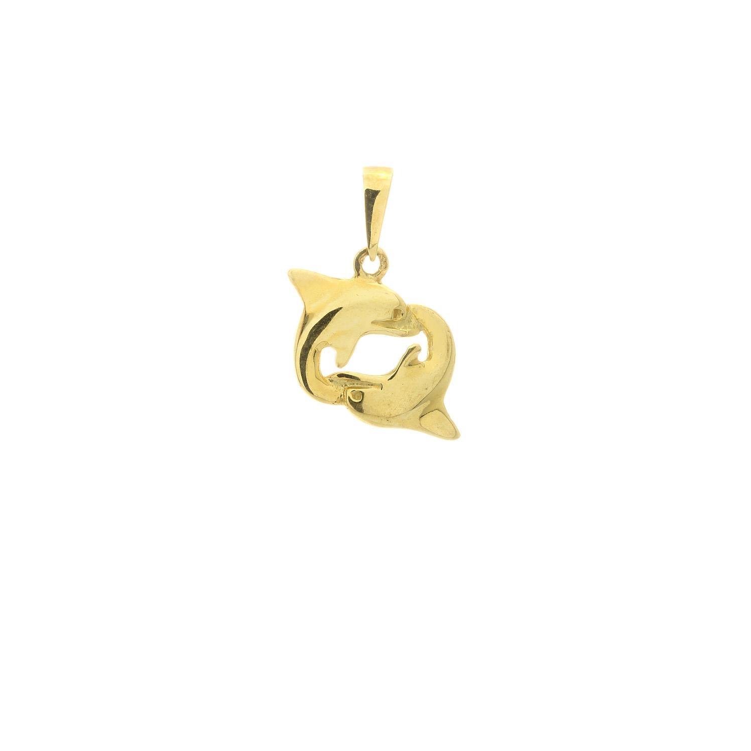 Zlatý prívesok DELFÍNY 3VZ00303