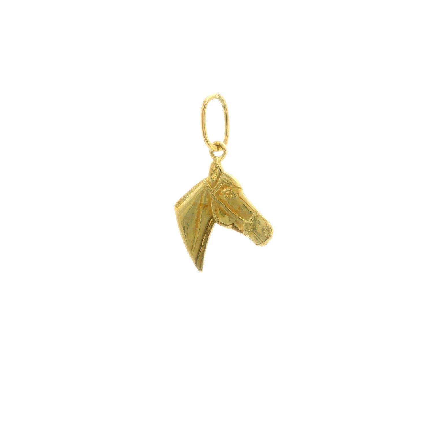 Zlatý prívesok HLAVA KOŇA 3VZ00286