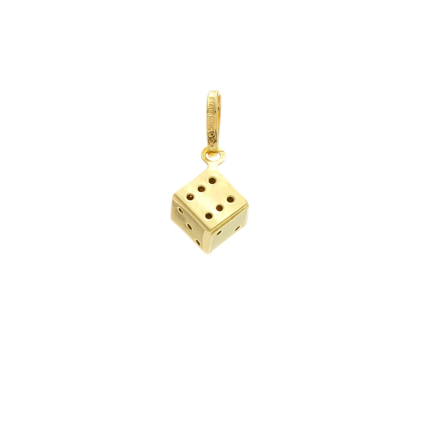 Zlatý prívesok KOCKA 1VZ00353