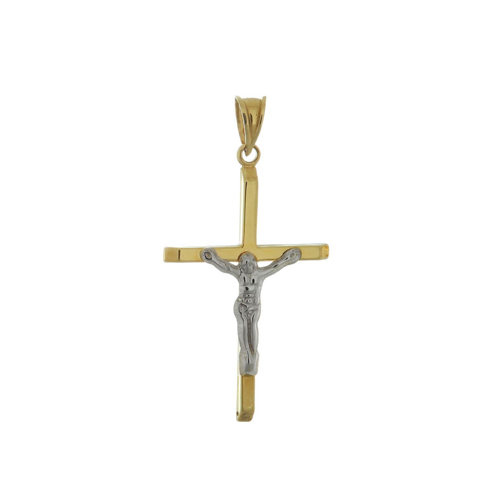 Zlatý prívesok krížik s Ježišom 1VK00091