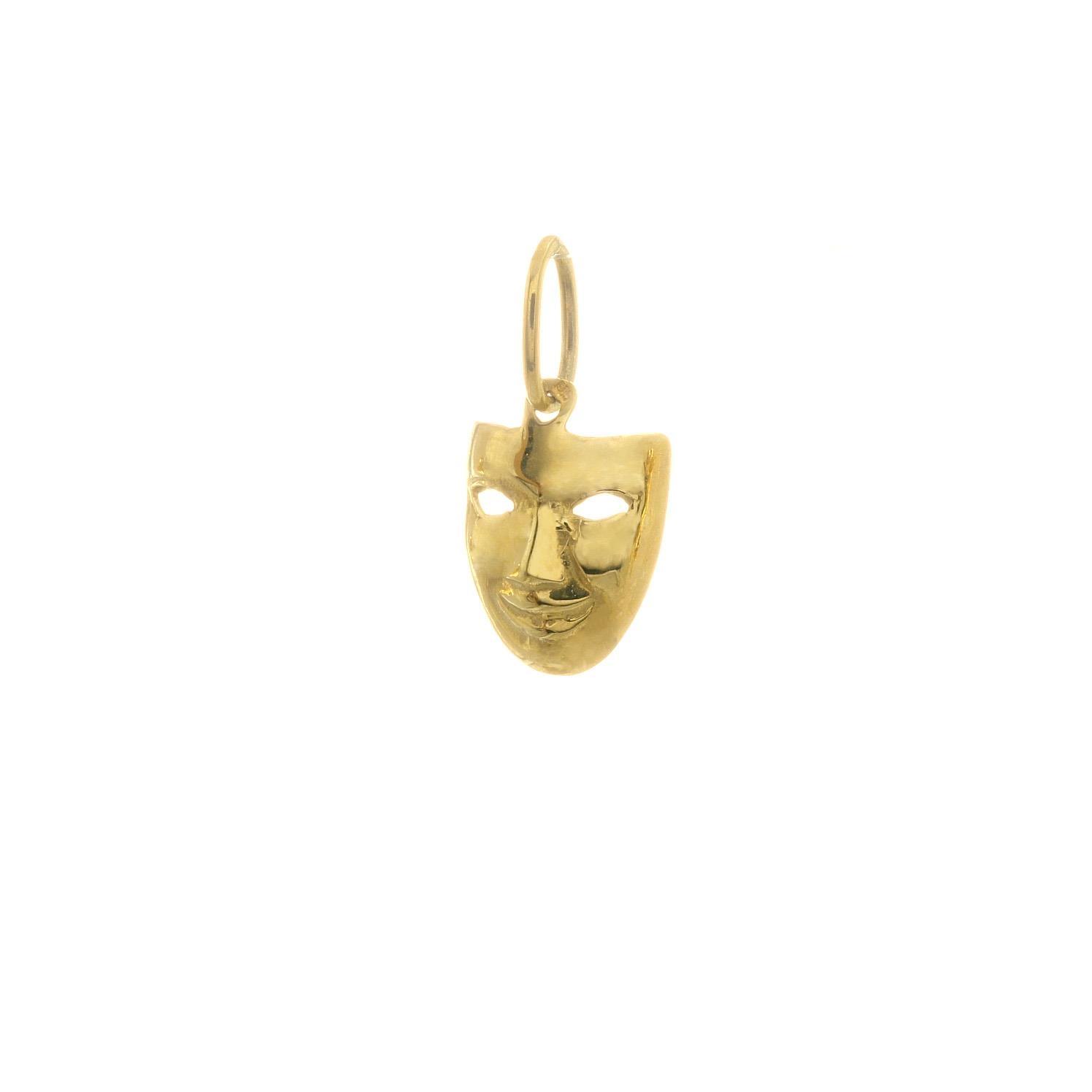 Zlatý prívesok MASKA 3VZ00279