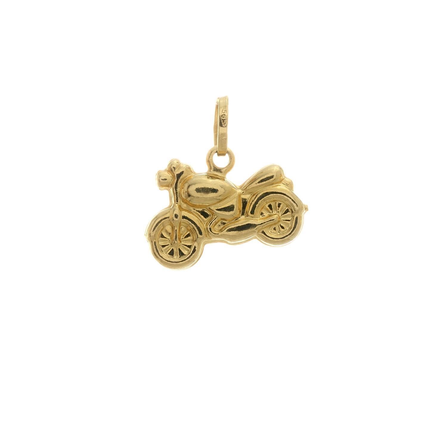 Zlatý prívesok MOTORKA 3VZ00304