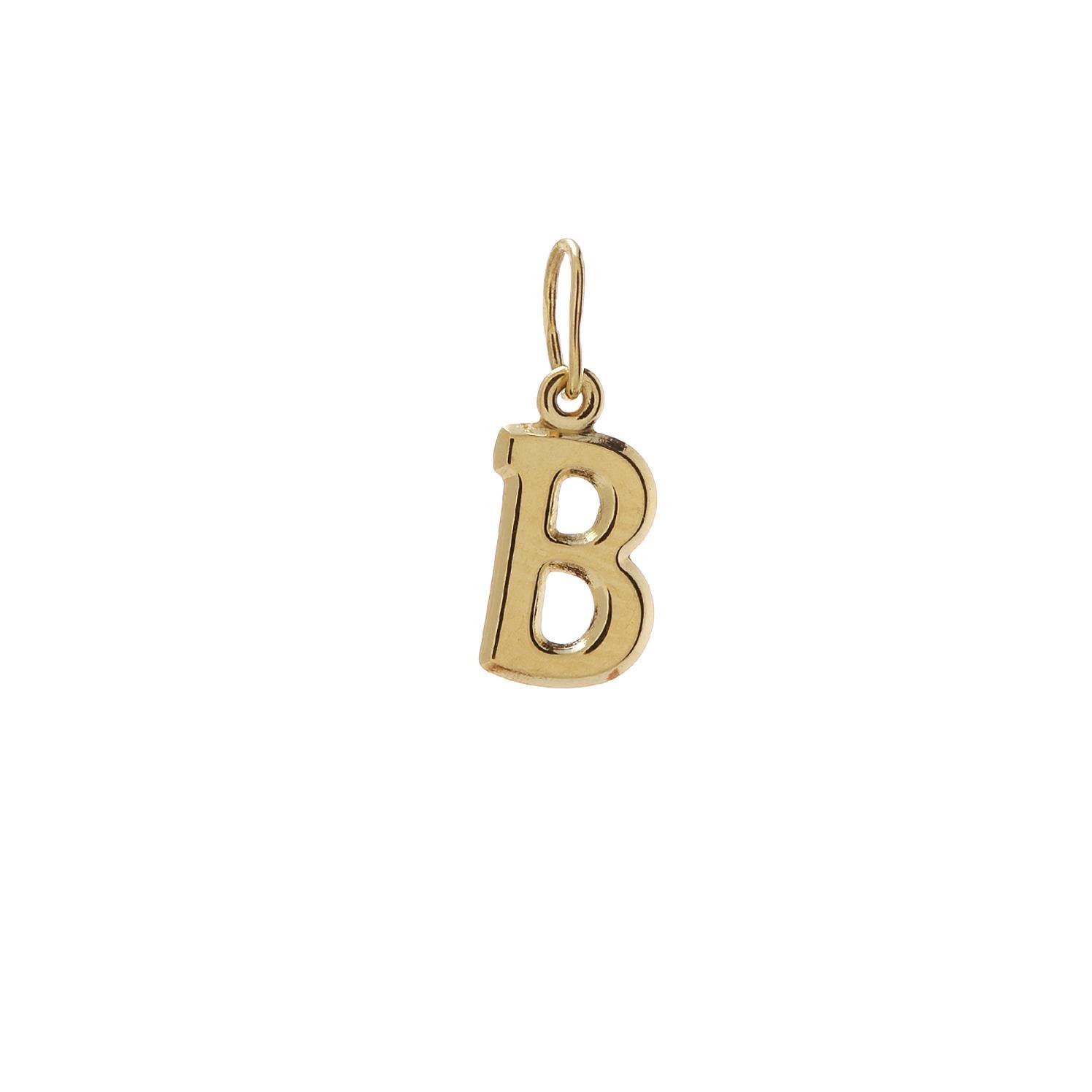Zlatý prívesok písmenko B 2VZ00103