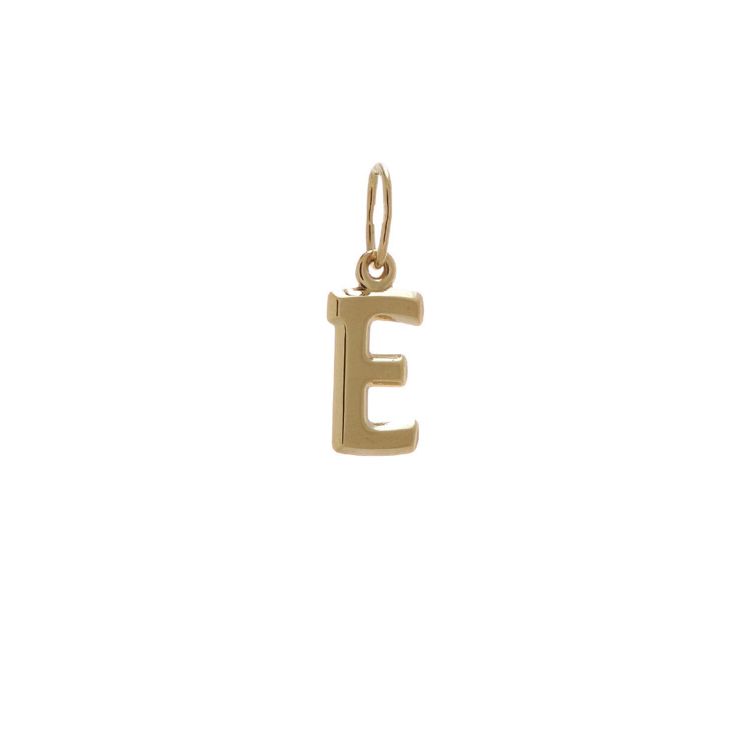 Zlatý prívesok písmenko E 2VZ00106