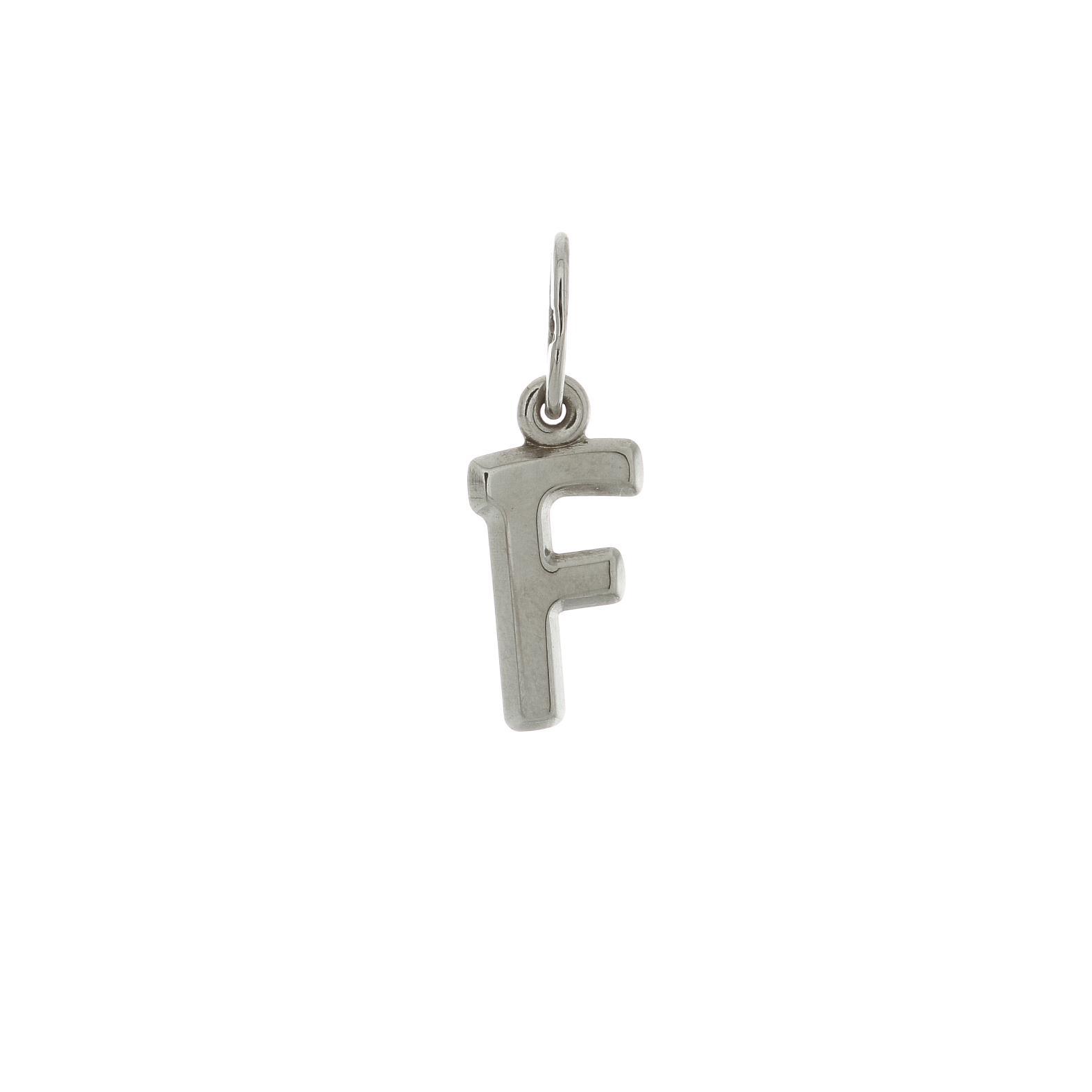 Zlatý prívesok biele písmenko F 2VB00006