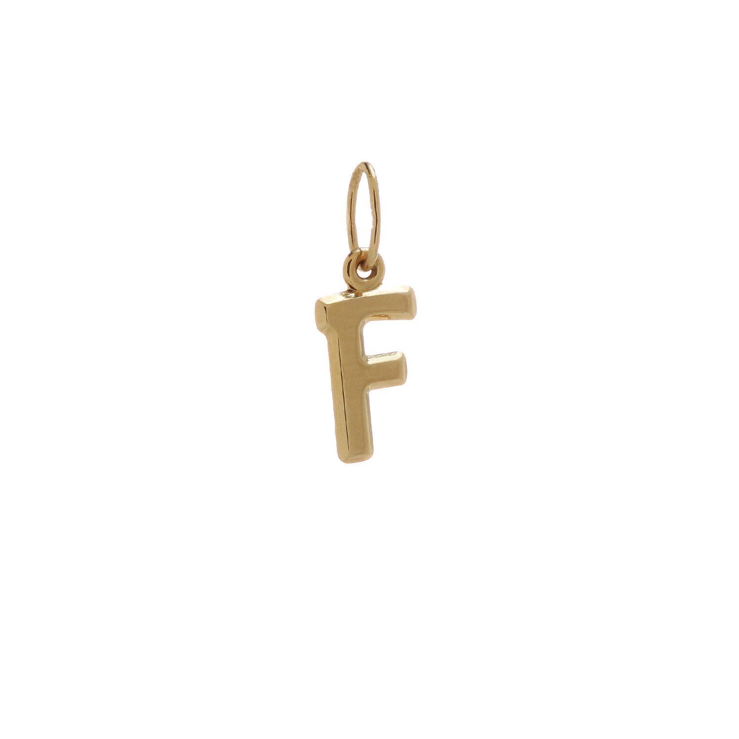 Zlatý prívesok písmenko F 2VZ00107