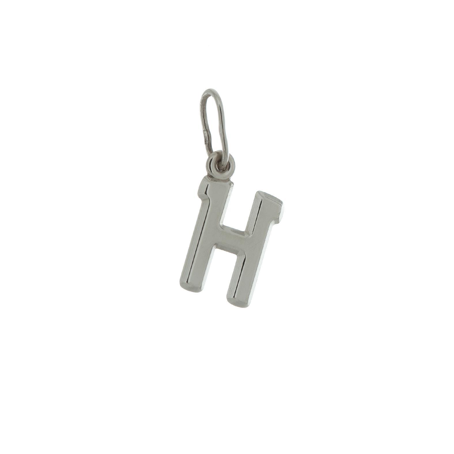 Zlatý prívesok biele písmenko H 2VB00008