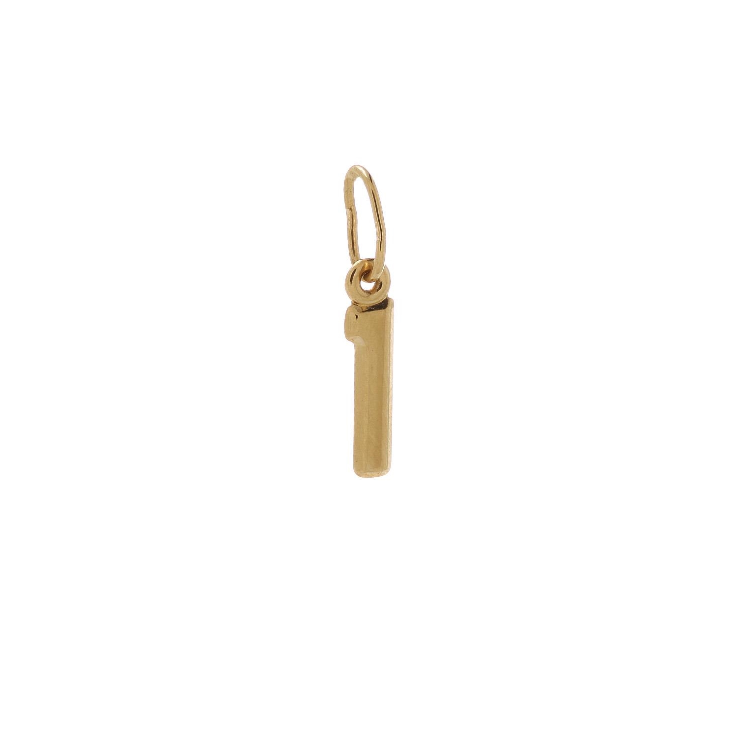Zlatý prívesok písmenko I 2VZ00110
