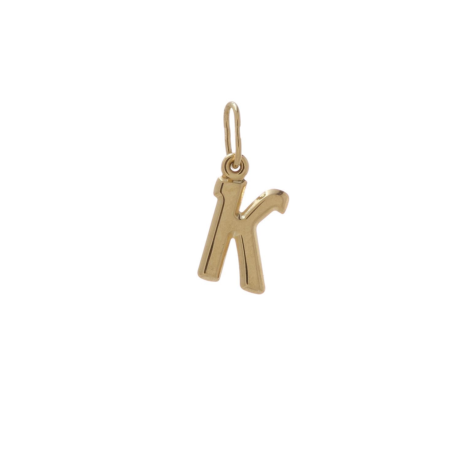 Zlatý prívesok písmenko K 2VZ00112