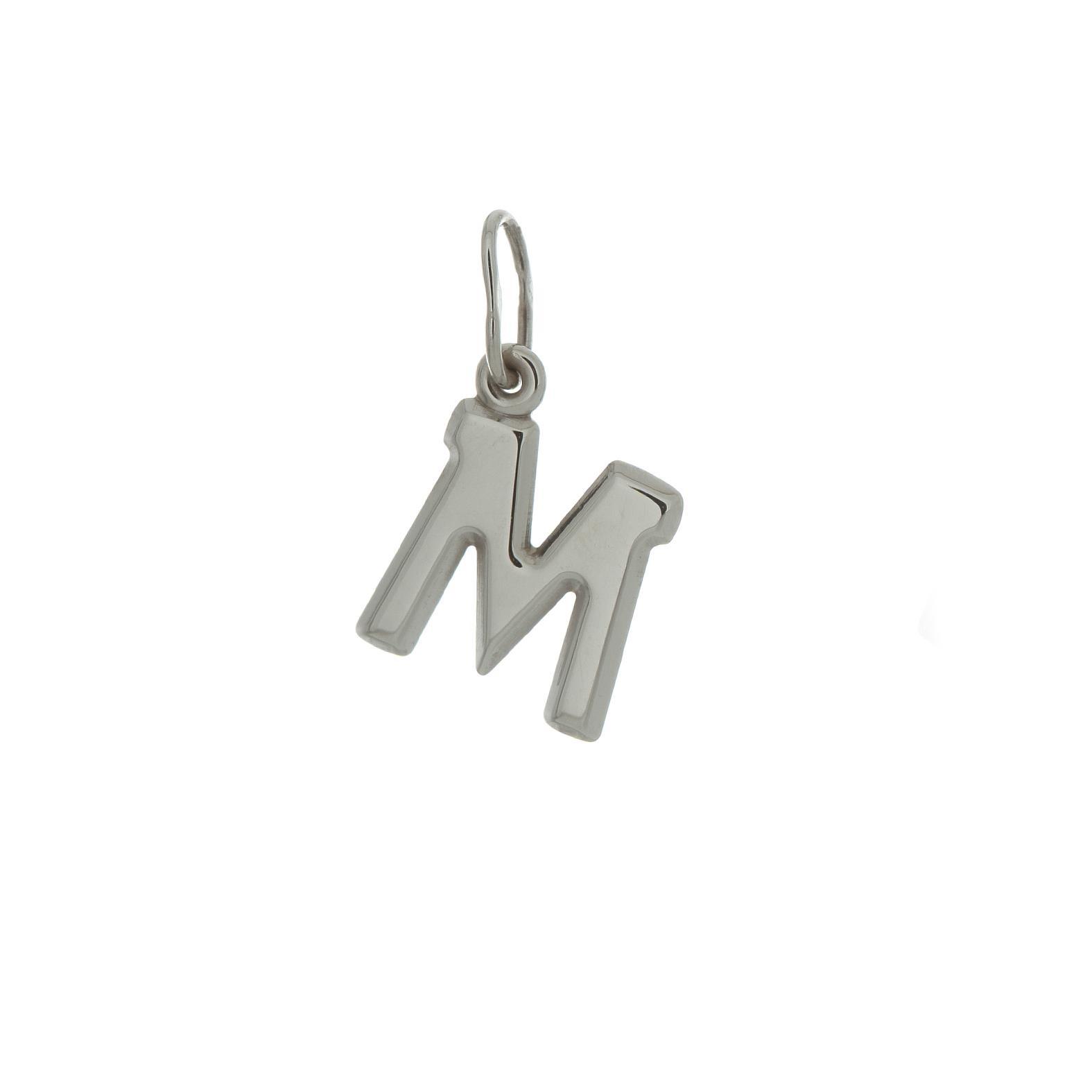 Zlatý prívesok biele písmenko M 2VB00013
