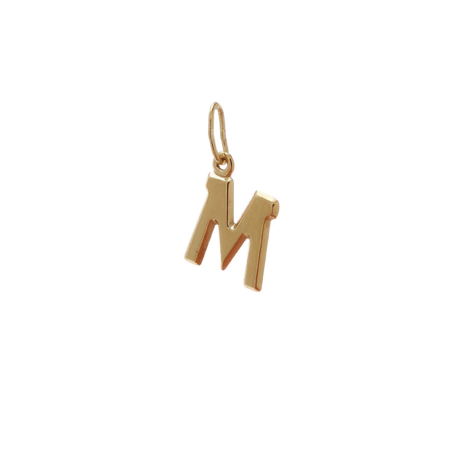 Zlatý prívesok písmenko M 2VZ00114