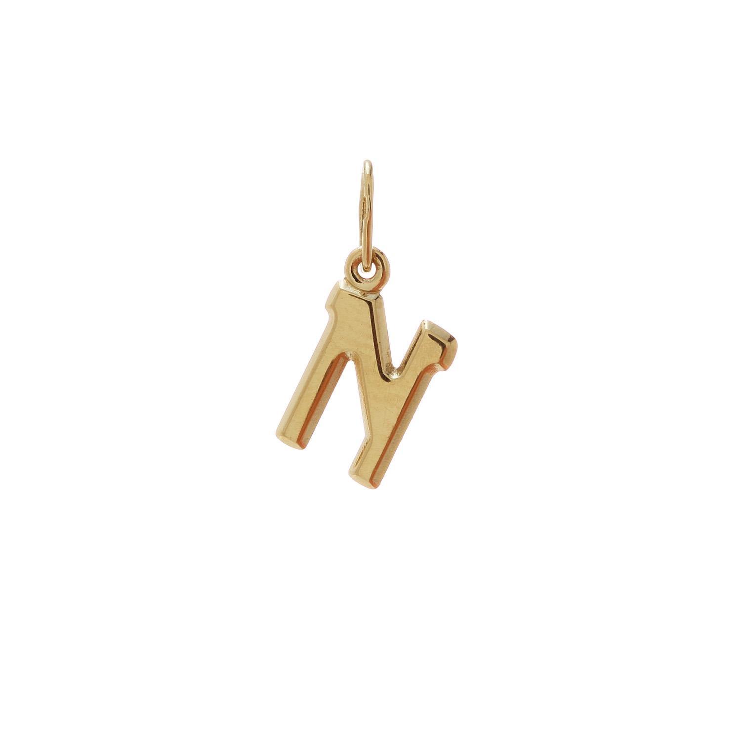 Zlatý prívesok písmenko N 2VZ00115