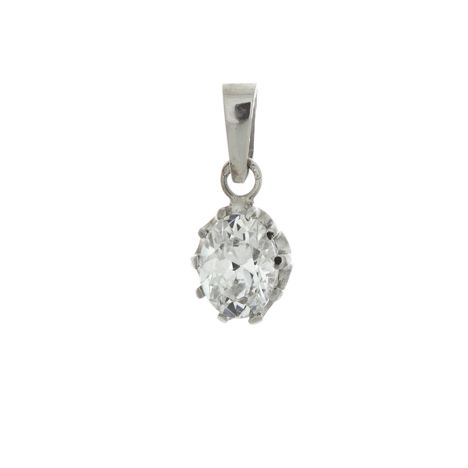 Zlatý prívesok s bielym kameňom Abelia 2VB00023