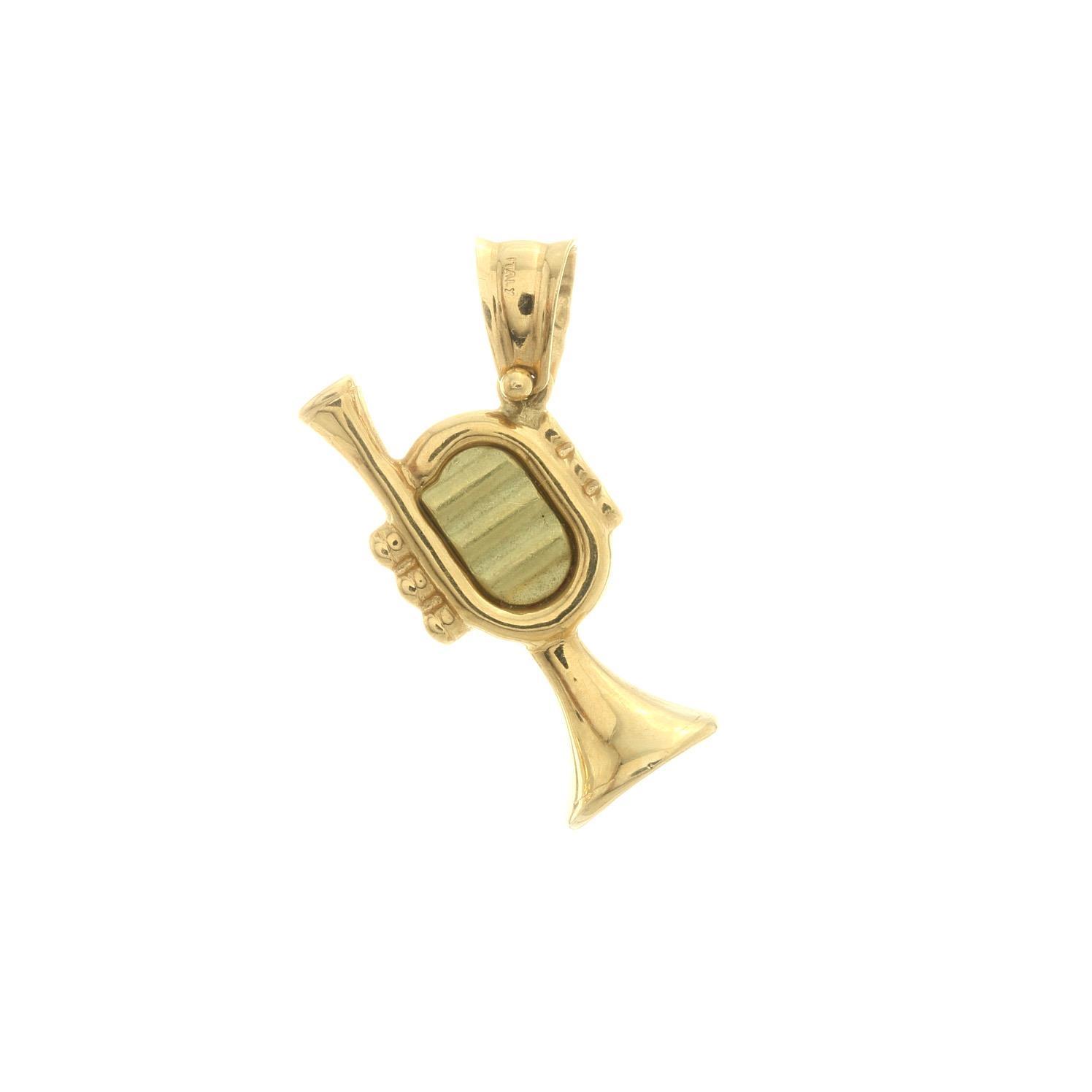 Zlatý prívesok TRÚBKA 3VZ00234